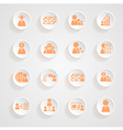 Finance icons button shadows set vector image