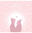 happy love in hats vector image