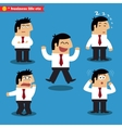 Manager emotions in poses vector image