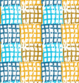 Rough brush blue and brown checkered squares vector image