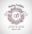 Wedding invitation rose vector image vector image