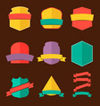 Set of the badges in flat style vector image