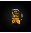beer bottle glass house design menu background vector image vector image