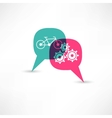 bicycle gear bubble speech vector image vector image