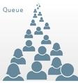 queue vector image