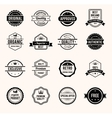 Black and White Retro Badges vector image vector image