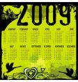 grunge calendar vector image