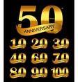 Template Logo Set Anniversary vector image