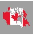 Canadas County design Maple leaf icon Map icon vector image