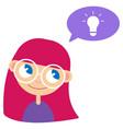 batan girl and idea vector image
