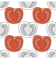 Black and white seamless pattern with tomatoes for vector image