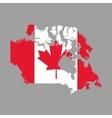 Canadas County design Maple leaf icon Map icon vector image