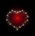 Constellation of love vector image