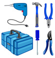 Construction tools and box vector image