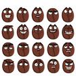 Cute cartoon coffee bean smile vector image
