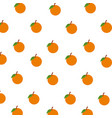 orange fruits citrus seamless pattern decoration vector image