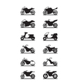 Various types of motorcycles vector image