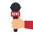 microphone for news journalist vector image