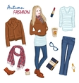 Fashionable Clothing Women Composition vector image