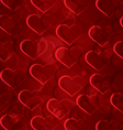Sparkling hearts seamless vector image vector image
