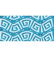 Seamless mosaic pattern - Blue ceramic tile - clas vector image