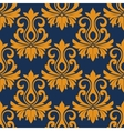 Symmetric golden flowers pattern vector image vector image