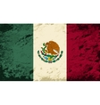 Mexican flag Grunge background vector image