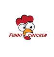 funny chicken vector image