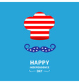 Chef hat and mustache Independence day vector image