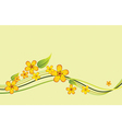 beautiful with yellow flowers vector image