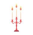 candelabra candlestick chandelier candle vector image