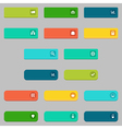 donate and buying concepts flat buttons set vector image