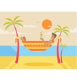 happy sunny summer day at beach vector image