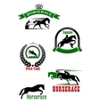 Horseracing dressage and polo club heraldic icons vector image