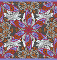 indian ornament colorful ornamental border on vector image