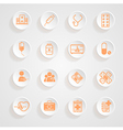 Medical Icons button shadows set vector image