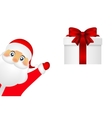 Santa Claus with a gift on white background vector image