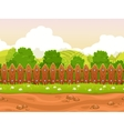 Seamless cartoon country landscape vector image