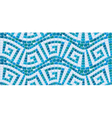 Seamless mosaic pattern - Blue ceramic tile - clas vector image