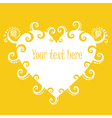 Sunny heart banner vector image
