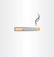 tobacco cigarette icon symbol vector image