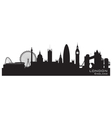 London England skyline Detailed silhouette vector image vector image