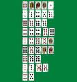 rankinng hands of poker vector image