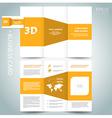 3d dimensional design brochure vector image