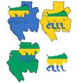 Mandrill Gabon vector image