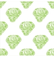 abstract seamless background of heads of vector image