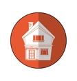 american house domestic chimney circle vector image
