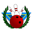 bowling alley symbol vector image