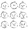 Cartoon baby face vector image