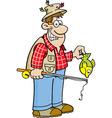 Cartoon fisherman vector image